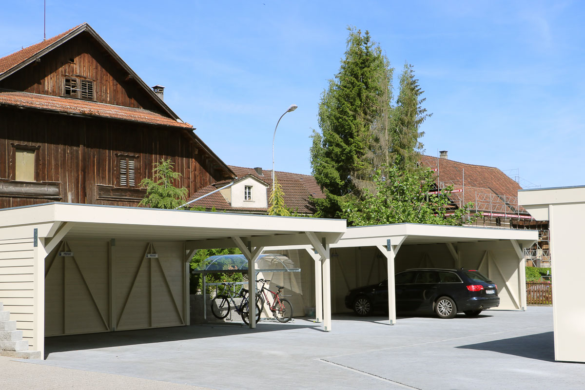 Carports holz uninorm technic ag for Carport doppelcarport