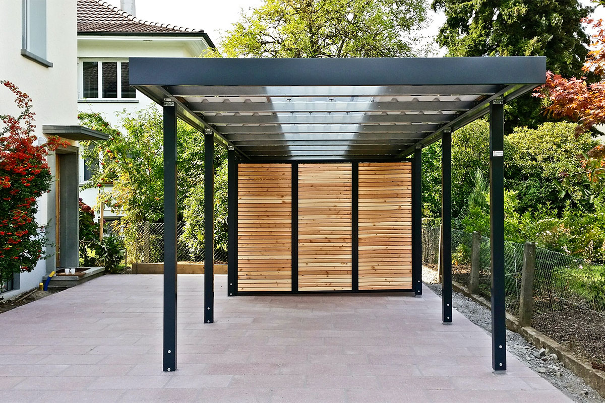 Carports metall uninorm technic ag for Carport holz metall