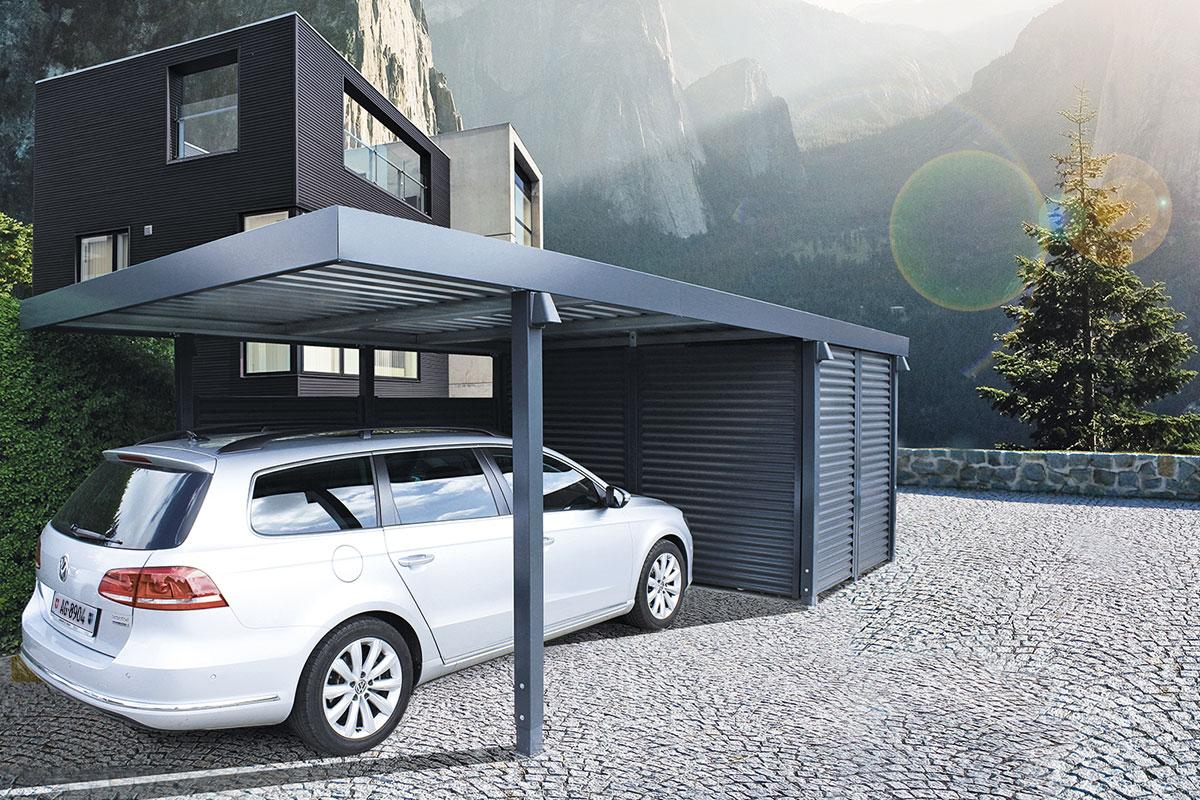 carports metall uninorm technic ag. Black Bedroom Furniture Sets. Home Design Ideas