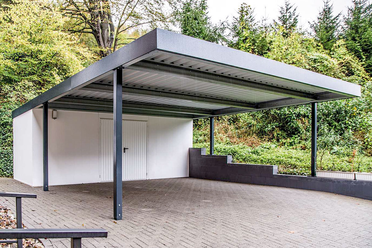 Carports metall uninorm technic ag for Carport doppelcarport