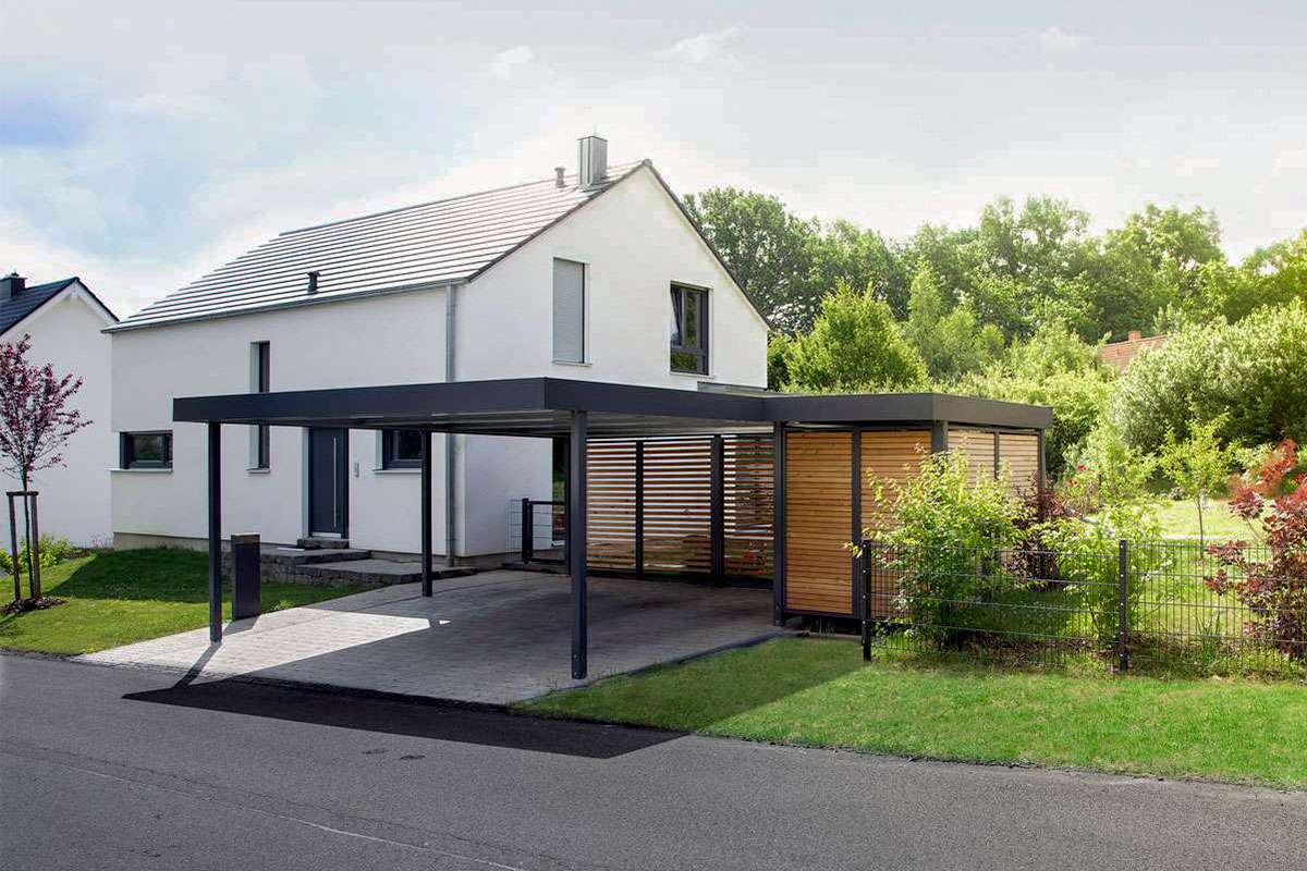 carport flachdach metall uninorm technic ag. Black Bedroom Furniture Sets. Home Design Ideas